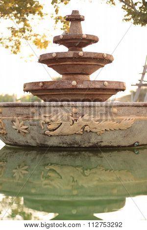 Fountain at standstill