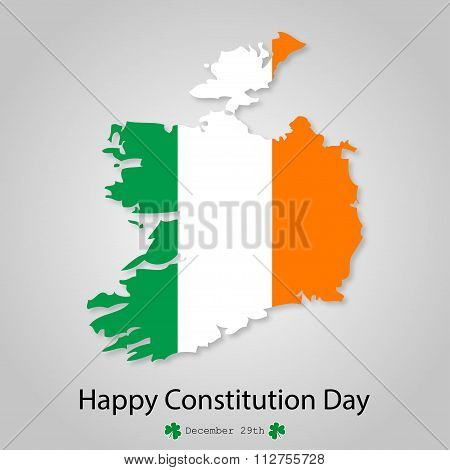 Flag Of Ireland Constitution Day December 29