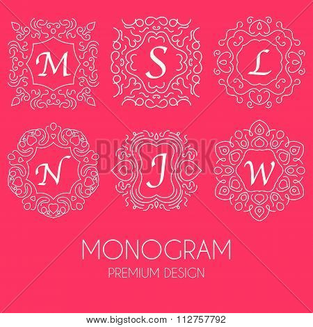 Simple monogram design template
