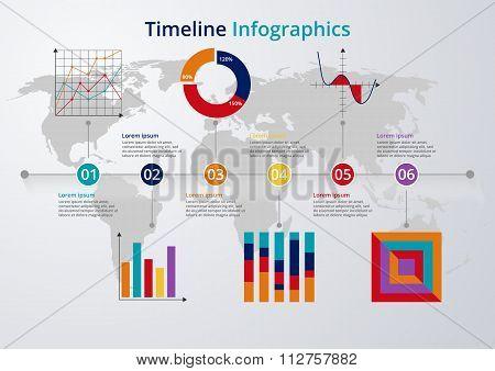 Vector illustration Timeline. flat design