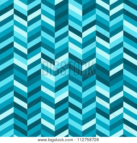 Zig Zag Abstract Background In Shades Of Blue