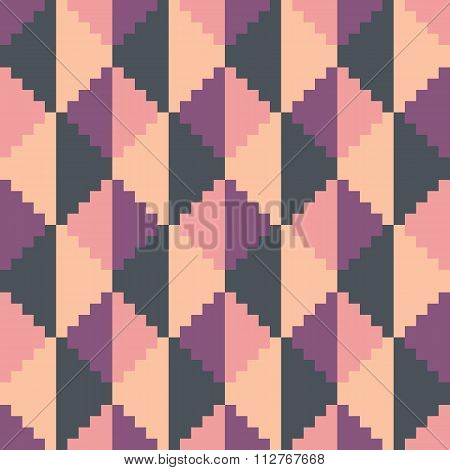 Seamless abstract geomatric pixel pattern in vector