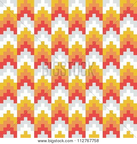 Seamless abstract arrow pixel pattern in vector