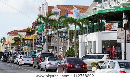 Lloyd G. Smith Boulevard in Oranjestad, Aruba
