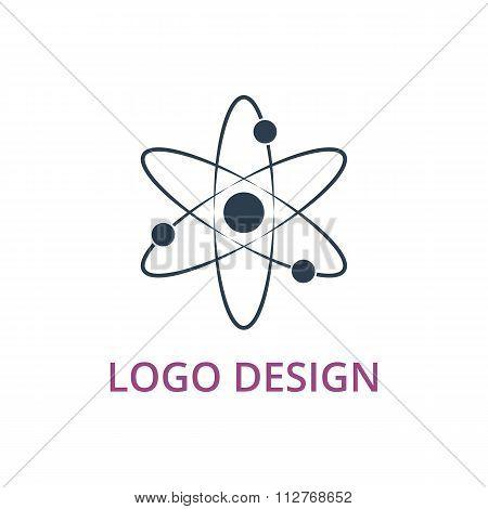 Vector illustration of an atom logo