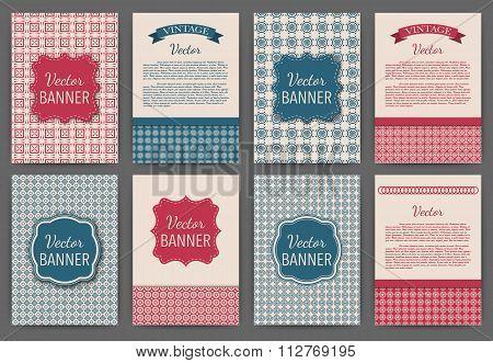 Vector illustration set of invitations