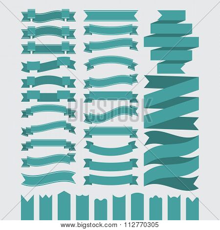 Stock Vector Set of ribbons