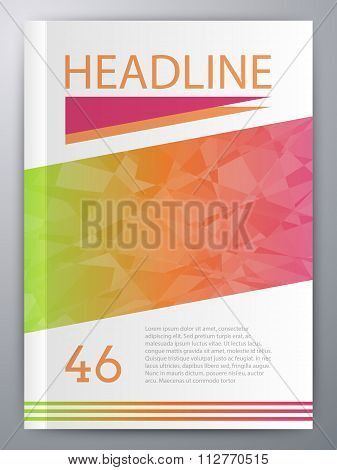 Vector illustration of abstract booklet
