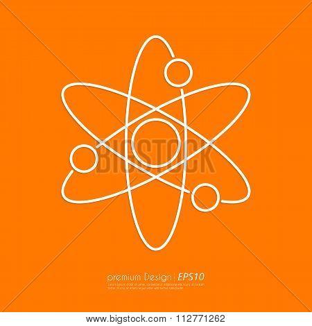 Stock Vector Linear icon atom