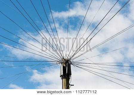 Telephone communication wires