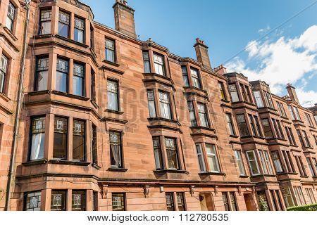 Tenement Building In Glasgow.