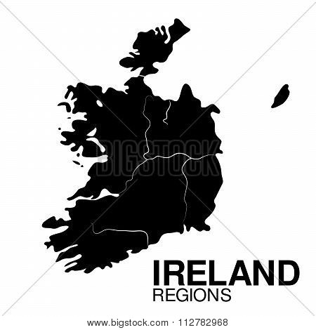 Ireland Regions map. Regions of Ireland