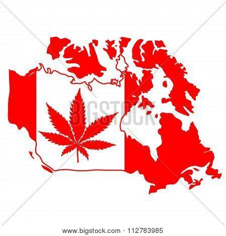 sign with marijuana leaf