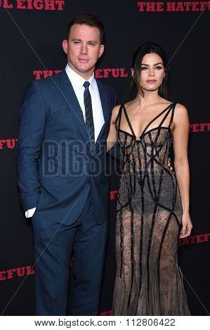 LOS ANGELES - DEC 07:  Channing Tatum & Jenna Dewan-Tatum arrives to the