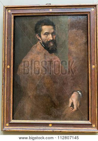 New York City The Met - Michelangelo Buonarroti Portrait