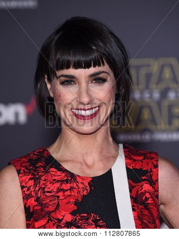 LOS ANGELES - DEC 14:  Constance Zimmer arrives to the