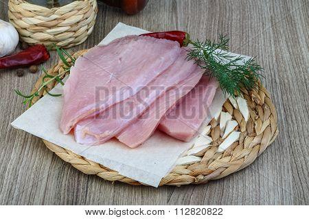 Raw Turkey Steak