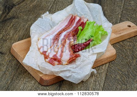 Raw Sloced Bacon
