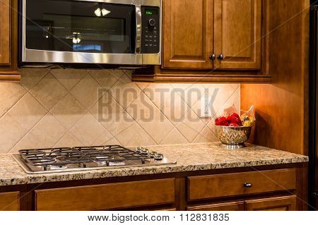 Nice Granite Countertop With Gas Range