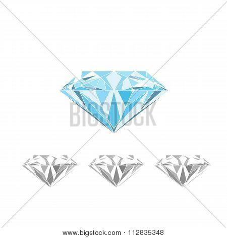 Isolated large blue Diamond vector