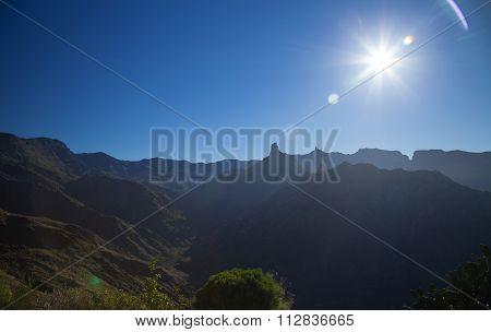 Inland Central Gran Canaria, Sunrise At Acusa Seca