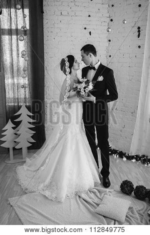 Couple Married On Christmas Eve.