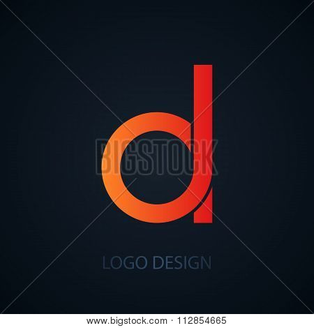 Vector illustration of logo letter d