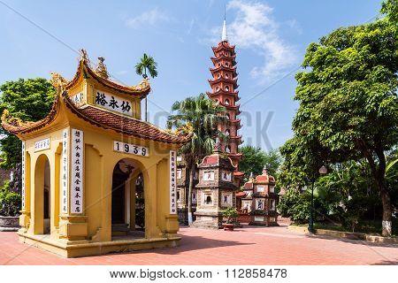 Hanoi, Vietnam - Circa September 2015: Inside The Tran Quoc Pagoda Complex,  Hanoi