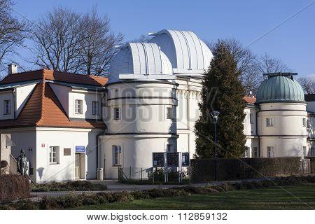 PRAGUE, CZECH REPUBLIC - DECEMBER 23, 2015: Photo of Stefanik observatory.