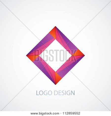 Vector illustration of abstract logo square