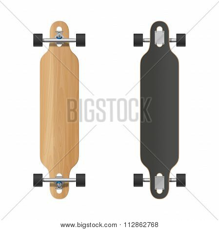 Longboard vector illustration.