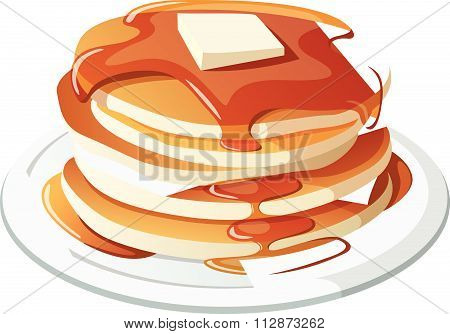 Pancakes concept vector illustration