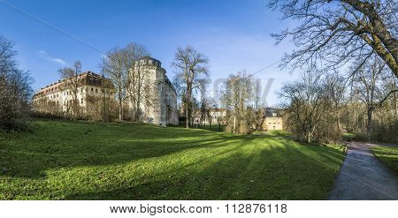 View From The Ilm Park In Weimar To Green Castle And Anna Amalia Library