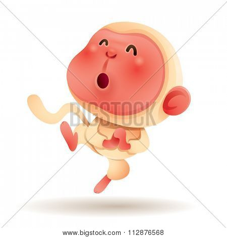 Chinese Zodiac - Monkey. Chinese New Year. Gong xi Gong xi.