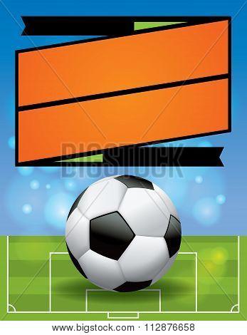 Vector Soccer League Flyer Illustration