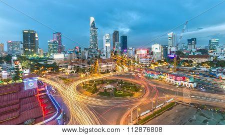 Saigon sparkling at night
