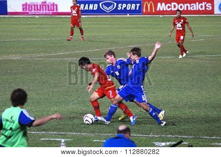 The 42nd King's cup international football match between Thailand and Finland, Finland win 3-1.