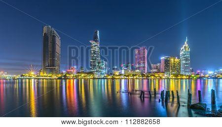 Ho Chi Minh City shines at night