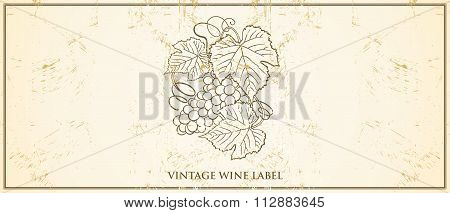 Vector Vintage Wine Bottle Label Template