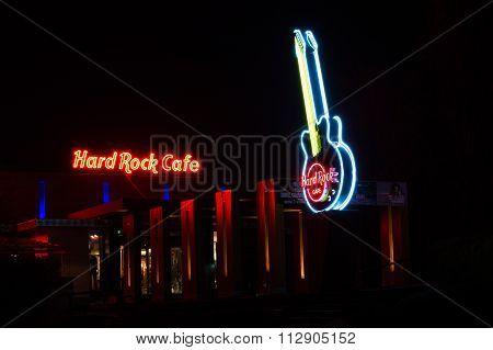 Hard Rock Cafe at Night