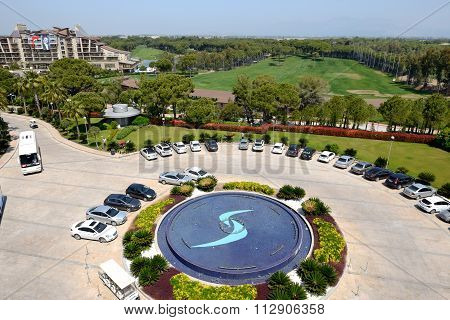 Antalya, Turkey - April 22: The Parking Place Near Calista Luxury Resort On April 22, 2014 In Antaly