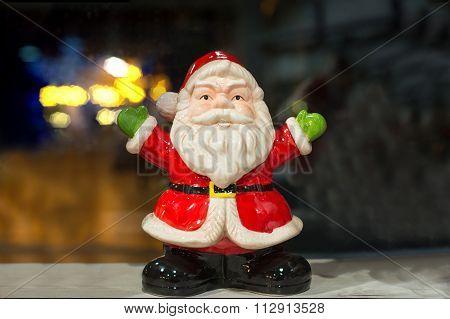 Santa Claus ceramic figure