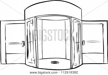 Outlined Missing Door In Doorway