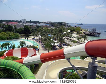 Slides and Waterfront at the Imperial Palace