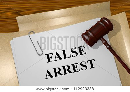 False Arrest Concept