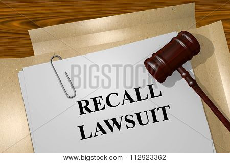 Recall Lawsuit Concept