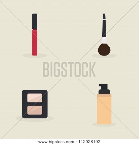 Abstract Makeup objects