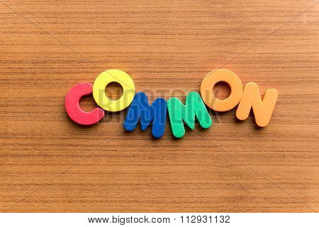 Common Colorful Word