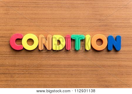 Condition Colorful Word