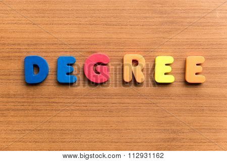 Degree Colorful Word